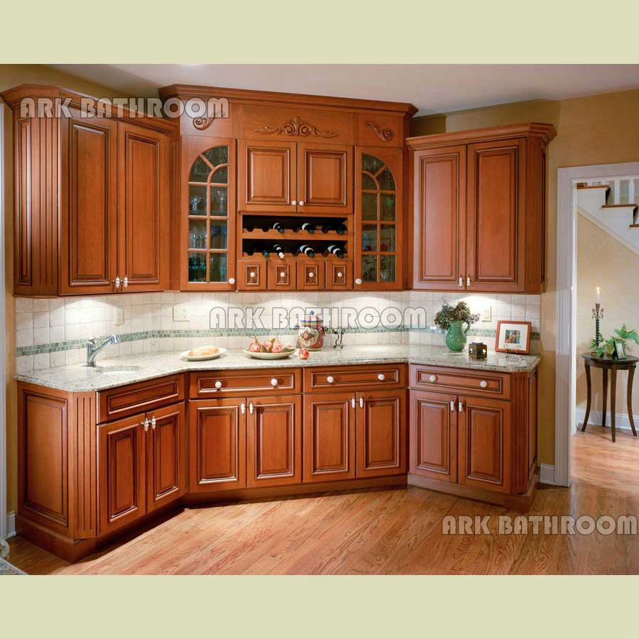 America Kitchen Cabinet Solid Wood Kitchen Cabinet KC008